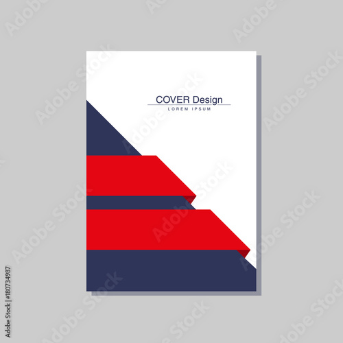 book cover design vector template in A4 size\ - design cover
