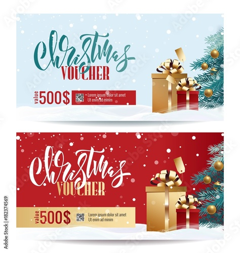 Christmas Gift Voucher Coupon discount Gift certificate template - christmas gift vouchers templates