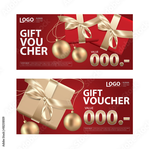 Gift Voucher Coupon Template for Your Business Vector Illustration