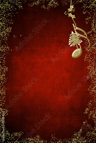 Christmas music poster background\
