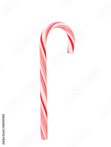 Candy cane (isolated on white background with clipping path) sugar