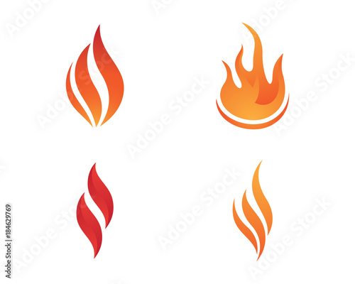 Fire flame Logo Template\ - flame logo