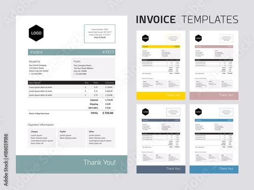 Invoice template set\