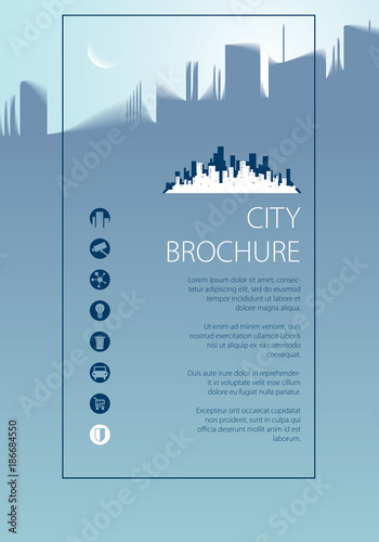 Minimal city traveling tourist information Brochure, flyer, cover