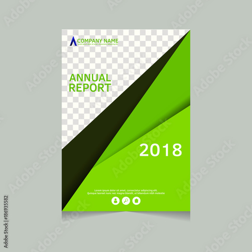Annual report, flyer, presentation, brochure Front page, book cover