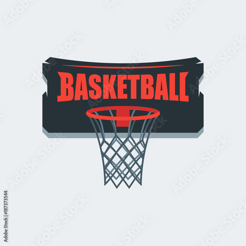 Basketball Player Logo Template Creative Sport Game Vector