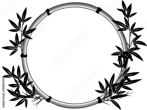 bamboo circle border\