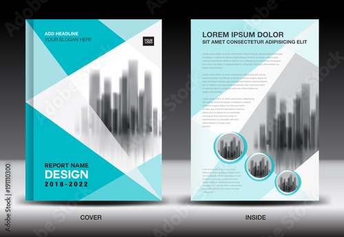 Annual report cover design, brochure flyer template, business - free design flyer templates