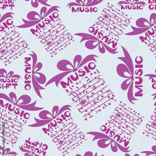 Musical gift Notes Design for the cover of the concert program of