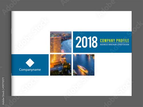 Business brochure cover design template corporate company profile or - sample business brochure