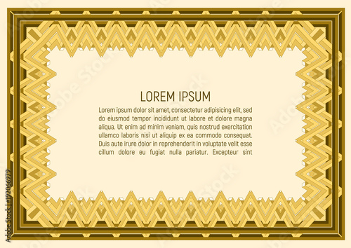 Certificate template With guilloche pattern and background Money