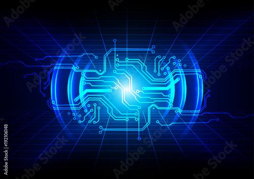abstract circuit design, digital technology background illustration - circuit design background
