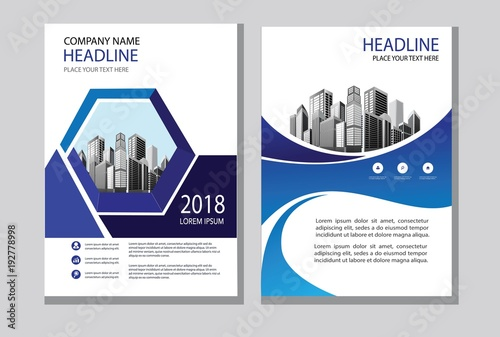 design cover book brochure layout flyer poster business template