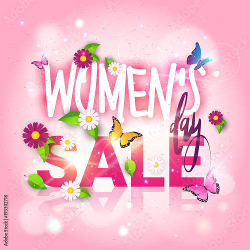 Womens Day Sale Poster Discount Flyer 8 March Promotion Template - sale poster design