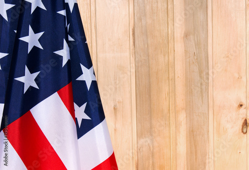 American flag on a light wooden background The Flag Of The United - America Flag Background