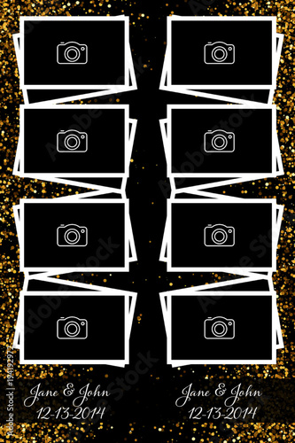 Black and Gold photo booth template\
