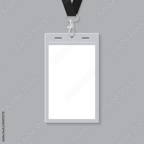 Blank ID Card Template\