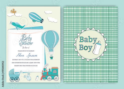 Quothot Air Balloon Baby Shower Party Invitation Card