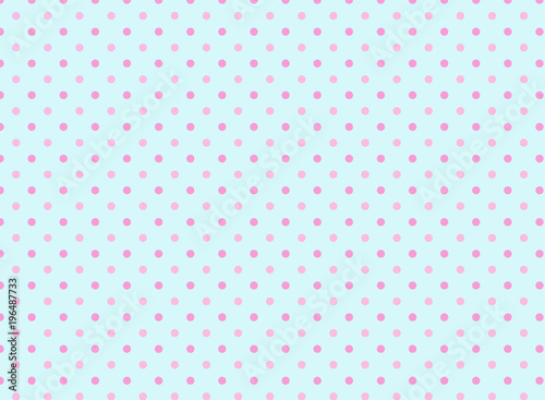 Blue and Pink Polka Dot Background\
