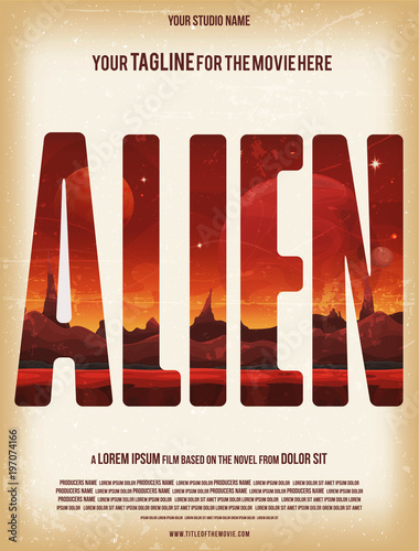 Alien Movie Poster Template\