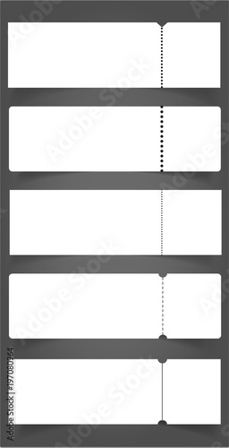 Big set of Blank event concert ticket mockup template Concert