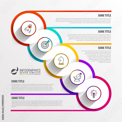 Circle infographics Template for diagram Vector illustration