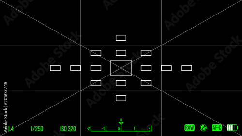 Vector template for your design Camera viewfinder Focusing screen