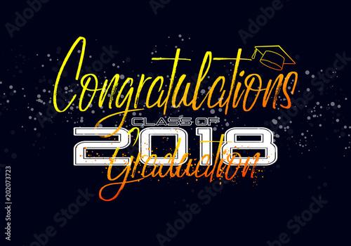Graduation label Vector text for graduation design, congratulation