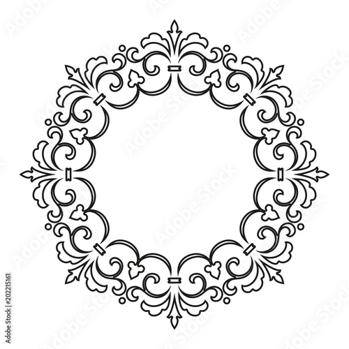 Decorative frame Elegant vector element for design in Eastern style
