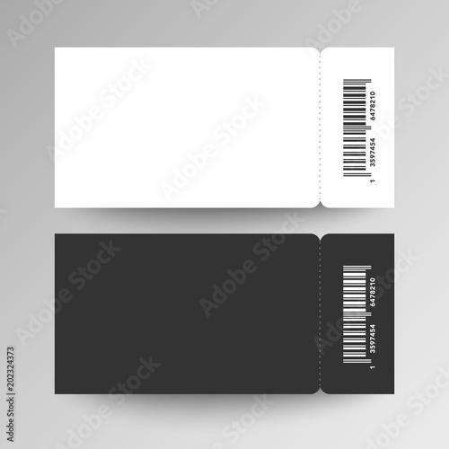 vector illustration blank festival event ticket template\