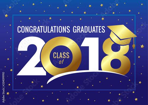 Graduating class of 2018 vector illustration Class of 2018 design