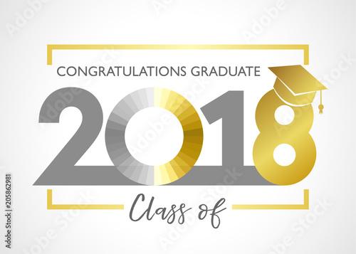Class of 2018, congratulations graduating card Class of 2018