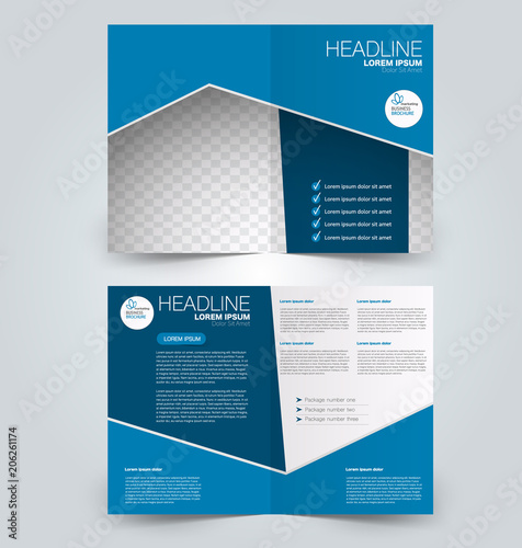 Fold brochure template Flyer background design Magazine or book