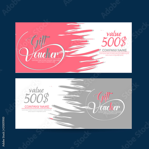 nice and beautiful template design for Discount Vouchers or Gift