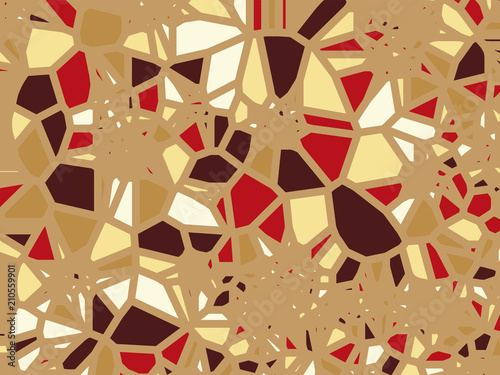 Colored abstract geometric flat grid facet polygonal pattern - Facet Design Pattern