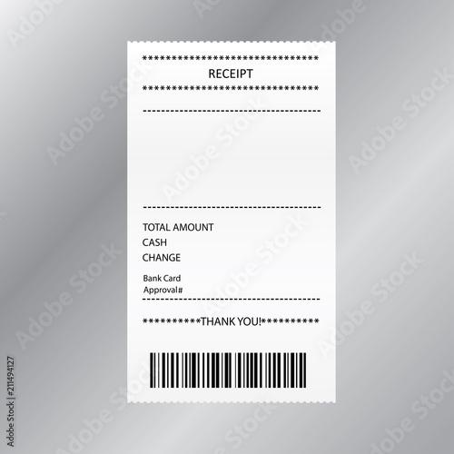 Receipt bill paper invoice,design template,\