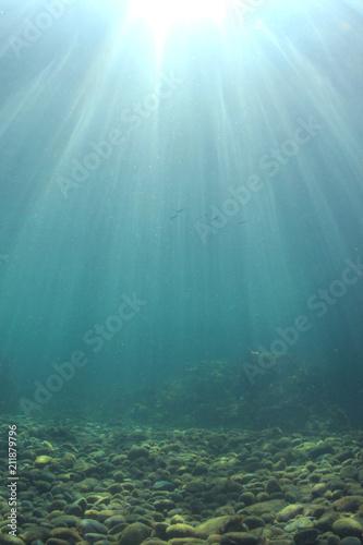 Underwater ocean background \