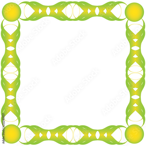 Green bio frame Green abstract frame for text, vecor format and jpg - green photo frame