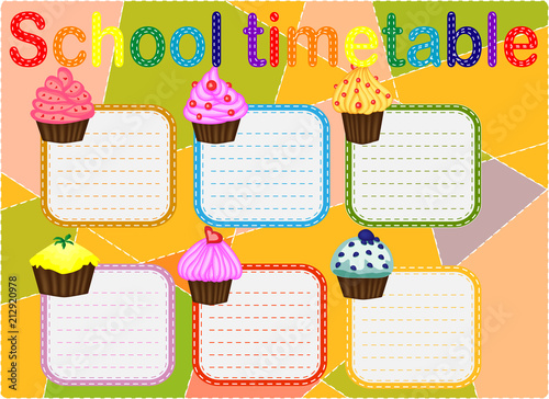 School Timetable, a weekly curriculum design template, scalable