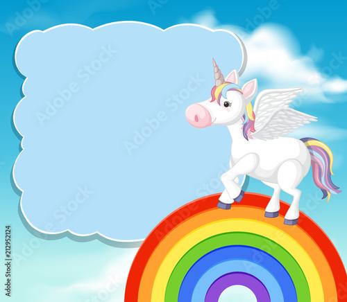 A Colourful Unicorn Template\
