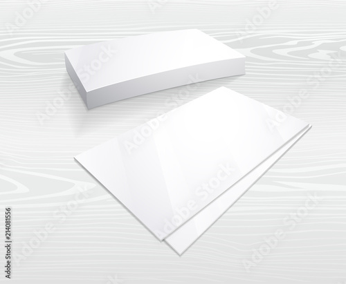Business card mockup, Blank template Simple white design in vector