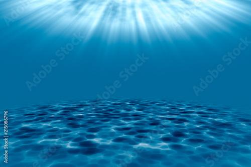 3d rendering, blue ocean background\