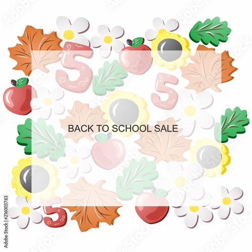 back to school Sale before the school year Sale of school supplies