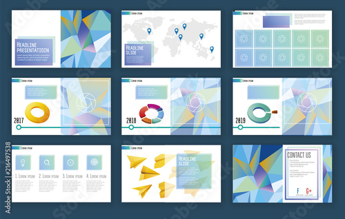 Elements of infographics for presentations templates Presentation