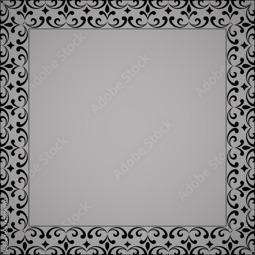 Black And White Simple Elegant Bordered Church Fundraising