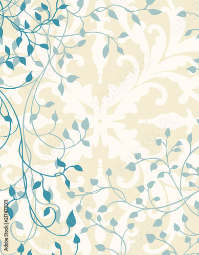 ivy background design with vines and leaves on fancy white wallpaper