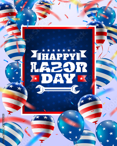 Happy Labor Day poster templateUSA labor day celebration with