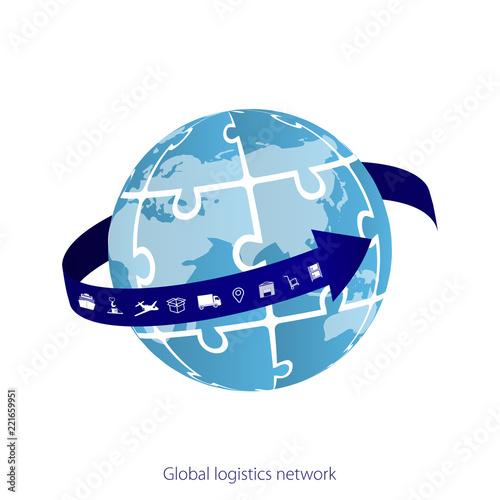 Global logistics network Map global logistics partnership