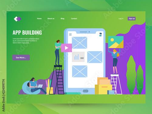 Development Team building Mobile application Website landing page