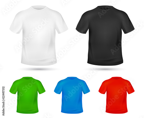 Blank T-shirt template Tee graphic concept Change colors Mock-up t